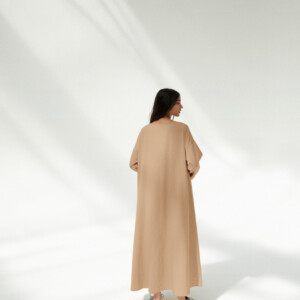 Camel Soft Cotton Pocket Dress